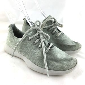 Wool runner sneakers light gray grey lace up shoes